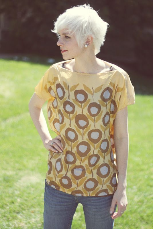 Easy shirt out of two scarves! #DIY #sewing