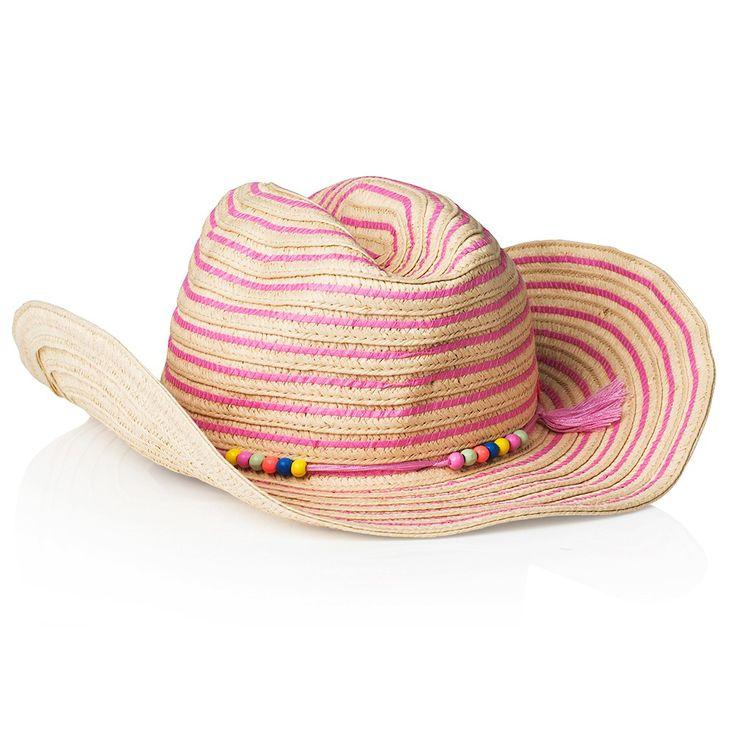 Seafolly Girl Lone Ranger Hat - Hibiscus