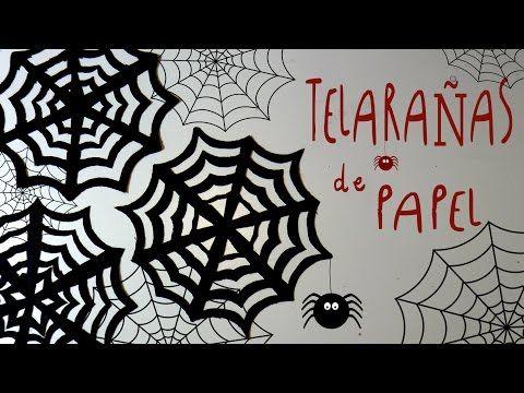 Idea FACIL de Halloween: TELARAÑAS de PAPEL by ART Tv - YouTube