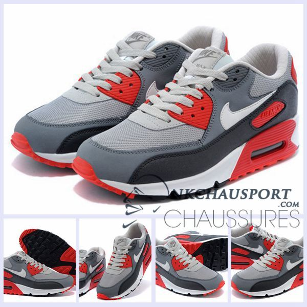 Nike Air Max 90 | Meilleur Chaussures Running Homme Rouge Grise