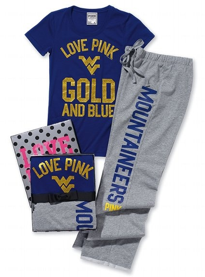 WVU pajama set...NEED these