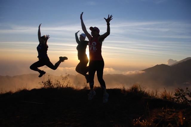life is good... sunrise at Mt Batur Bali.