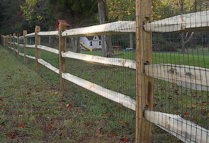 Split Rail Fence With Wire Backyard Fences Fence