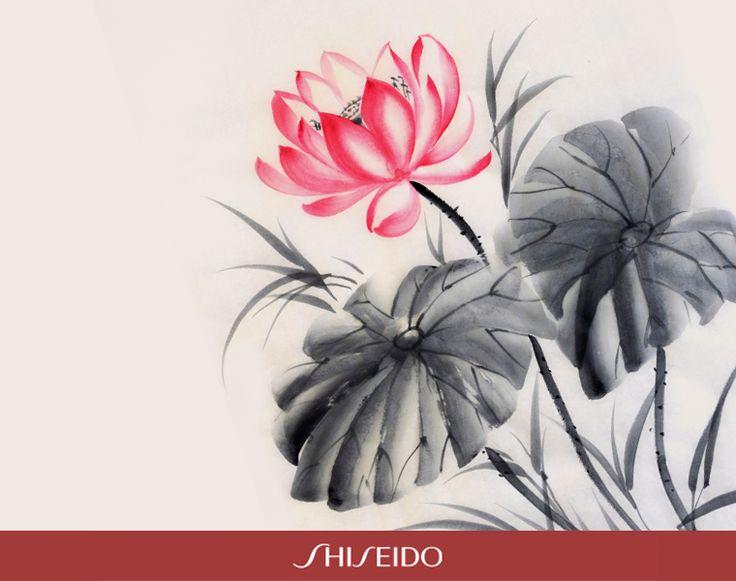 Ecco il Sumi-e, la tecnica di pittura giapponese che predilige la rappresentazione dei fiori. #ShiseidoMoment www.shiseido.it
