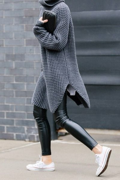dressed down wet look leggings