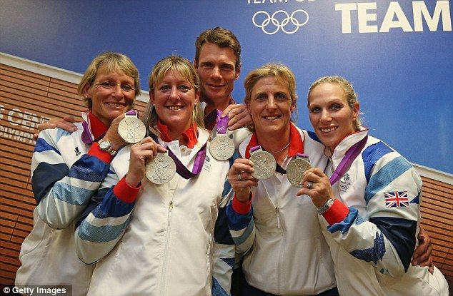 Silver lining: Team GB members Mary King, Nicola Wilson, William Fox-Pitt, Tina Cook and Zara Phillips