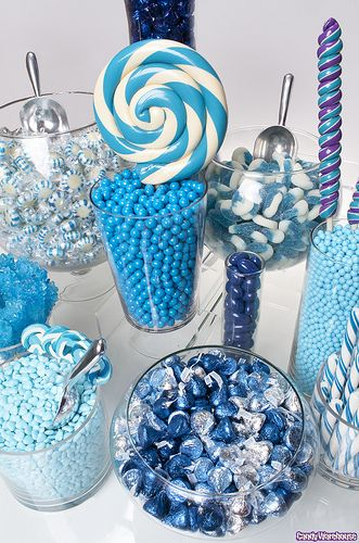 Blue Candy Buffet! Ooh must have for my wedding!