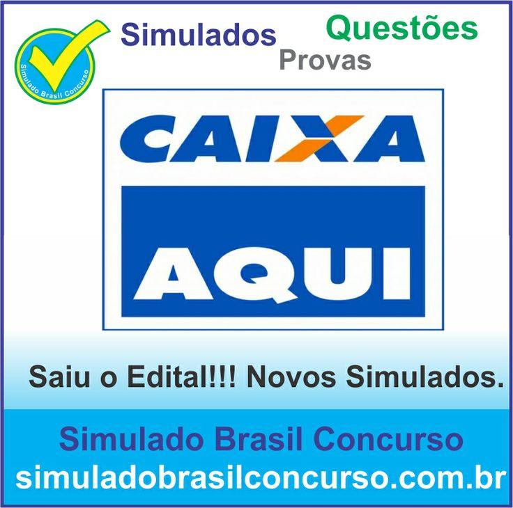 Bom dia Concurseiros, finalmente saiu o edital da Caixa 2014.  Estamos com novos simulados e questões de concursos.  http://simuladobrasilconcurso.com.br/simulados/concursos  Descubra!!! Compartilhe!!! Curta!!!  Muito Obrigada e Bons Estudos, Simulado Brasil Concurso  #SimuladoBrasilConcurso, #SimuladoCAIXA