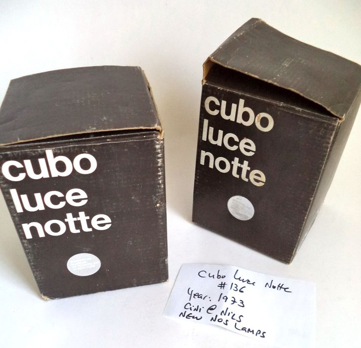 Original Cubo Luce Notte Cuboluce lamp Italy 1973 NOS  Bettonica Melocchi Cini & Nils ambient brown black MoMa Museum Rare Mid Century Decor by MushkaVintage3 on Etsy