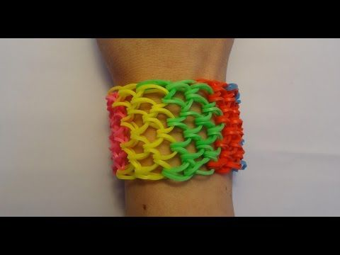 Bransoletka z gumek Loom Bands / Dragon Scale - smocza łuska / Rainbow Loom / Bracelet - YouTube