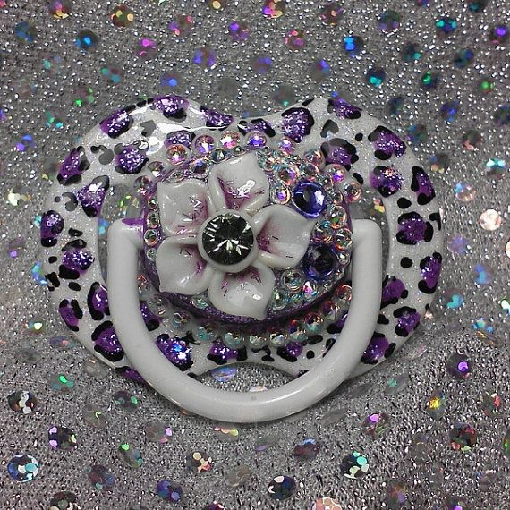 Check out this item in my Etsy shop https://www.etsy.com/listing/160607992/baby-bling-pacifiers