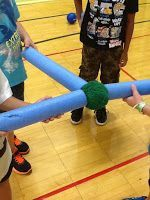 Physical Education and More: Responsible Personal and Social Behavior. Could do this with boomwhackers or rhythm sticks and balls from pe. Try for cooperation.