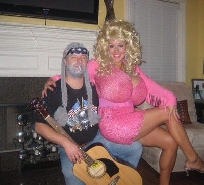Couples Halloween Costum...- HAHA that's awesome. Lord knows we would just need to buy the Willie Nelson wig and the pink dress. :)