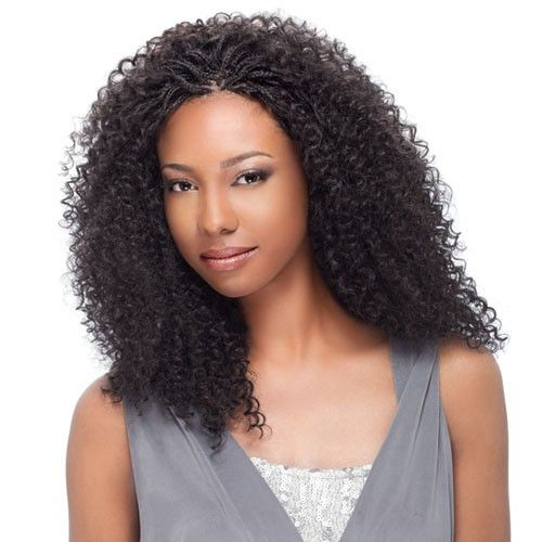 Human Hair Wet And Wavy Micro Braids  Sensationnel