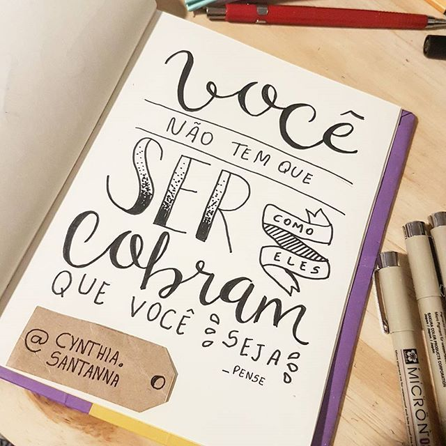Dia 23 - You don't have to be like they demand you to be. Sugestão do @lucas_s_santanna 😚 #30diasdehandlettering #handlettering #pense #beyourself