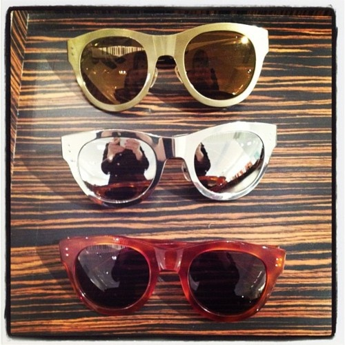 How major are these metallic sunnies at the Michael Kors fall preview?