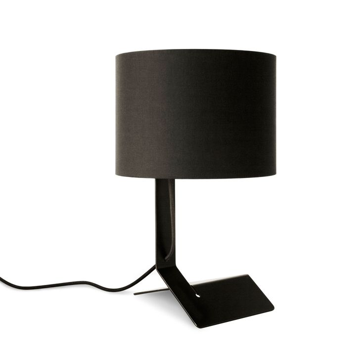 Modern black bender table lamp by blu dot