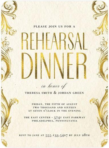 Shining Forever - Signature White Rehearsal Dinner Invitations - Magnolia Press - Almond - Neutral : Front