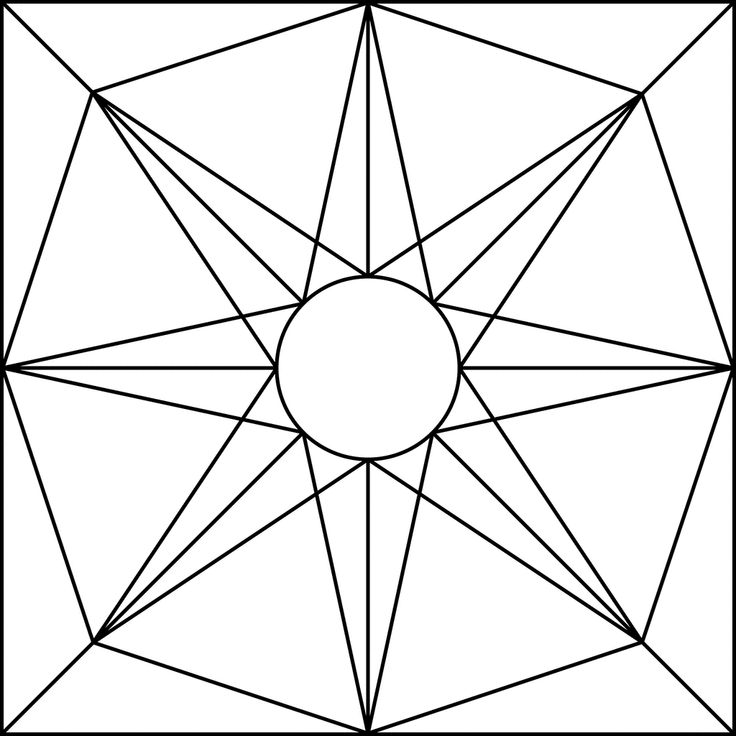 simple geometric designs to draw