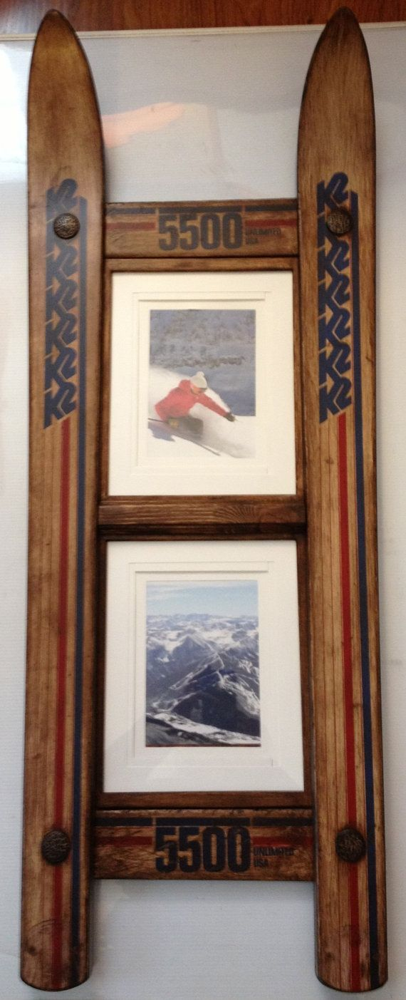 CUSTOMIZE your own DOUBLE Ski Frame made in by frameitinskis, $90.00