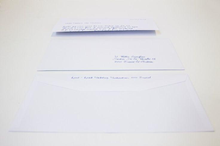 E-Graphics | Handgeschreven brieven & enveloppen