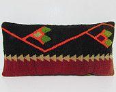 black cushion cover 12x24 DECOLIC bohemian room decor knitted cushion cover vintage cushions bohemian style pillow 29781 kilim pillow 30x60