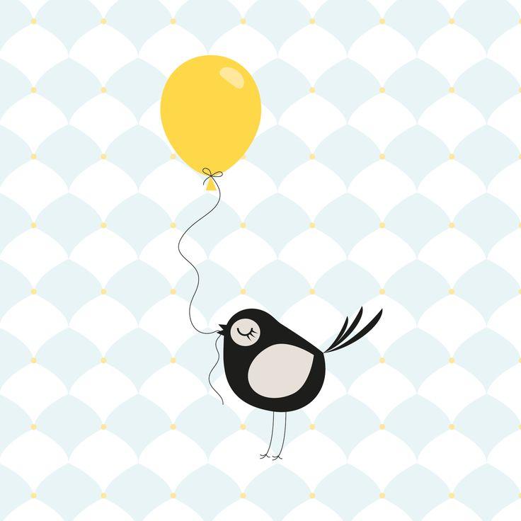 Birdy with balloon