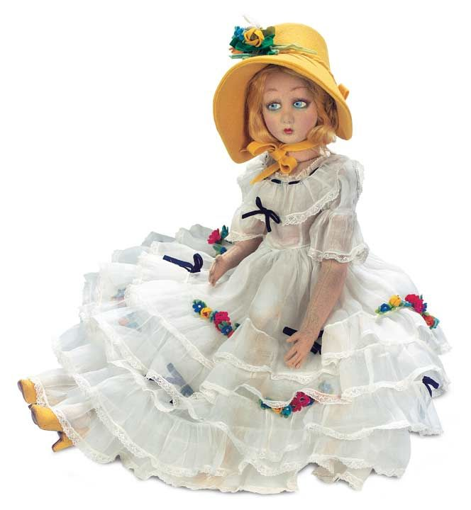 Italian Felt Salon Lady by Lenci in Original Costume