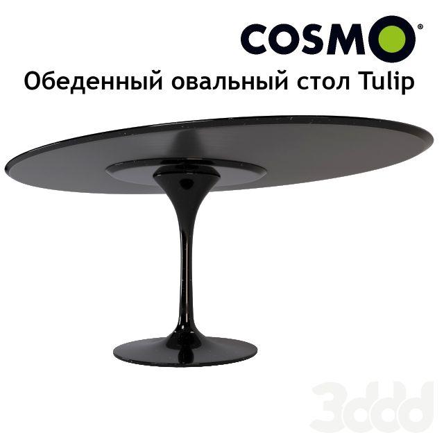 Обеденный овальный стол Tulip