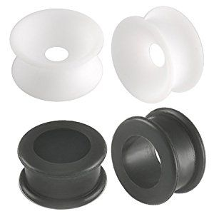 2 Pairs of 11/16 inch 18mm gauge Black (si01) and White (si02) flexible silicone Double Flared Flare Tunnels Ear Plugs ring Earlets kit set CEZS - Ear stretched Stretching Expanders Stretchers Lot - Pierced Jewellery Body Piercing Jewelry  http://electmejewellery.com/jewelry/2-pairs-of-1116-inch-18mm-gauge-black-si01-and-white-si02-flexible-silicone-double-flared-flare-tunnels-ear-plugs-ring-earlets-kit-set-cezs-ear-stretched-stretching-expanders-stretchers-lot-pierced-je/