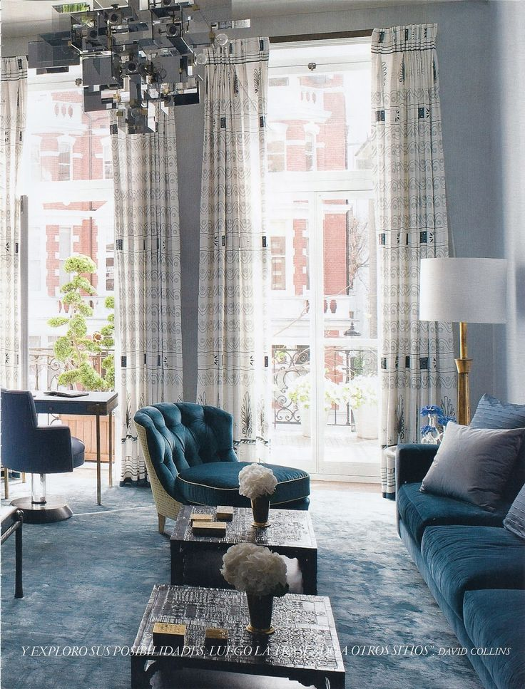 Style/fabric of drapes for master bedroom - david+collins+london+apartment+2.1.jpg (1217×1600)