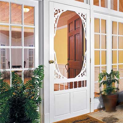 Victorian Screen Door  Splurge for vintage character restoration.  This looks like something I need for my porch remodel