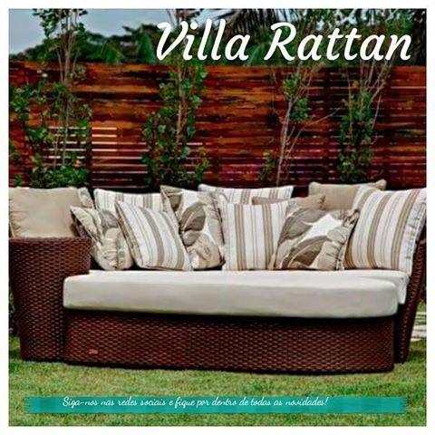 Chaise Longue com puff! Exclusividade Villa Rattan.  #chaise #decoraçao #paisagismo #lindo #beutiful #ambientes #ambientesexternos #villarattan #campinas #siga #siganos