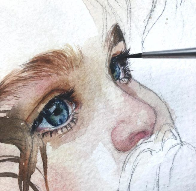 Watercolor Painting Watercolor Portraits Watercolor Illustration Portrait Painting