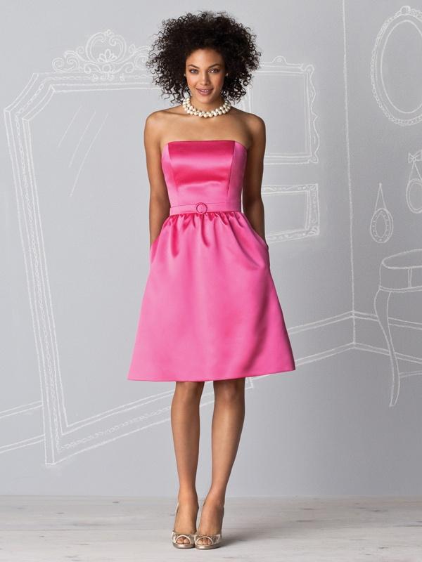 Rózowa sukienka bez ramiączek. Suknie Noviamor. BB1036