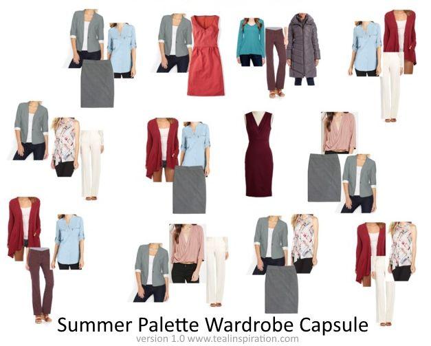 Summer Color Palette Wardrobe Capsule
