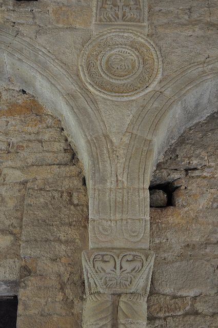 Décor, Santa María del Naranco, Oviedo, principauté des Asturies, Espagne. | Flickr: Intercambio de fotos
