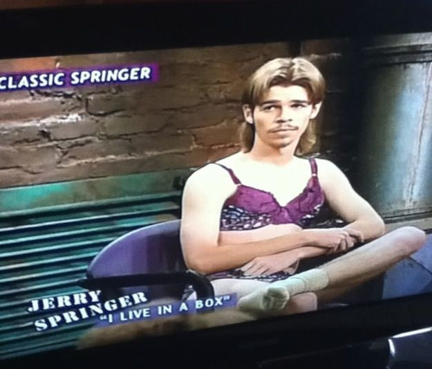 "This guy lived in a box. | 20 Wonderfully Bizarre Guests From The ""Jerry Springer Show"""