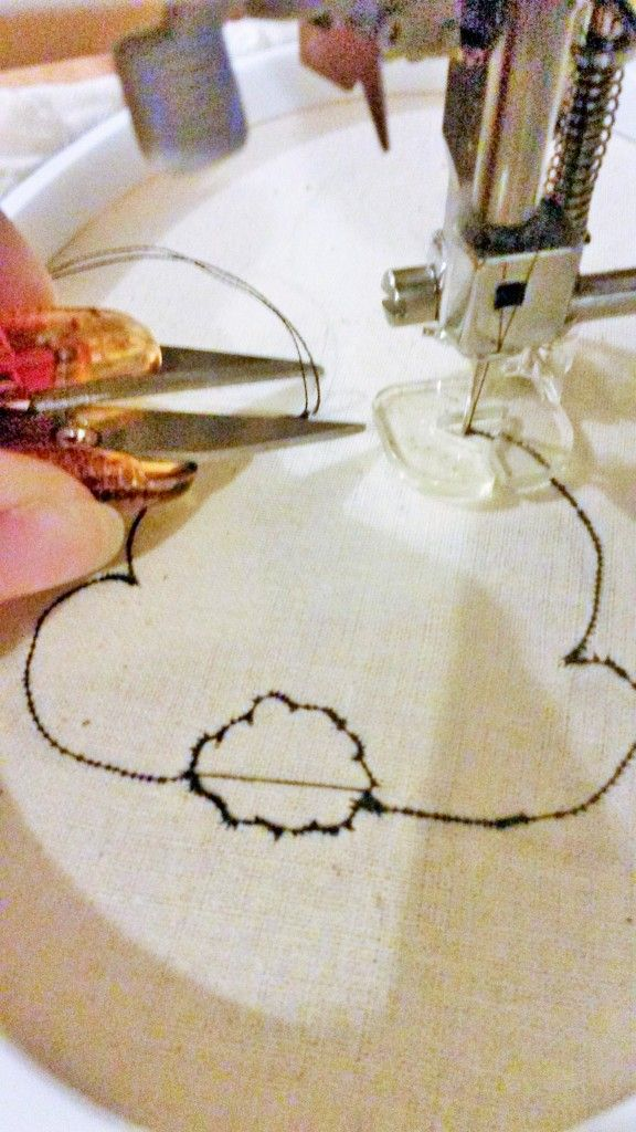 Free Sewing tutorial - how to draw with your sewing machine. Full instructions…