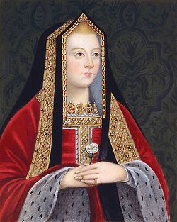 16世紀テューダー朝貴族女性。 GableHood(ゲーブルフード)=女性の髪飾り。切妻型の形をしている。(切妻造(きりづまづくり)とは屋根形状のひとつで屋根の最頂部の棟から地上に向かって二つの傾斜面が本を伏せたような山形の形状をした屋根。 広義には当該屋根形式をもつ建築物のことを指す) 16世紀イングランド。 フレンチフードは丸みを帯びた形状が特徴であるフード。髪形の上に着用され、背面に黒いベールが取り付けらている。着用時オデコは常時見えていた。 ヘンリー8世の2番目の妻であるアン・ブーリンがフランスから持ち帰り、イギリスに導入された(アンは新興富裕階級の純粋なイングランド人だが、フランスで教育を受けフランス宮廷に仕えていた)。 アンの死後、フレンチフードは後妻ジェーン・シーモアによって拒否・廃止されGableHoodへと変遷を遂げたが、ジェーンの死後、再びフレンチフードに戻った。 eli york