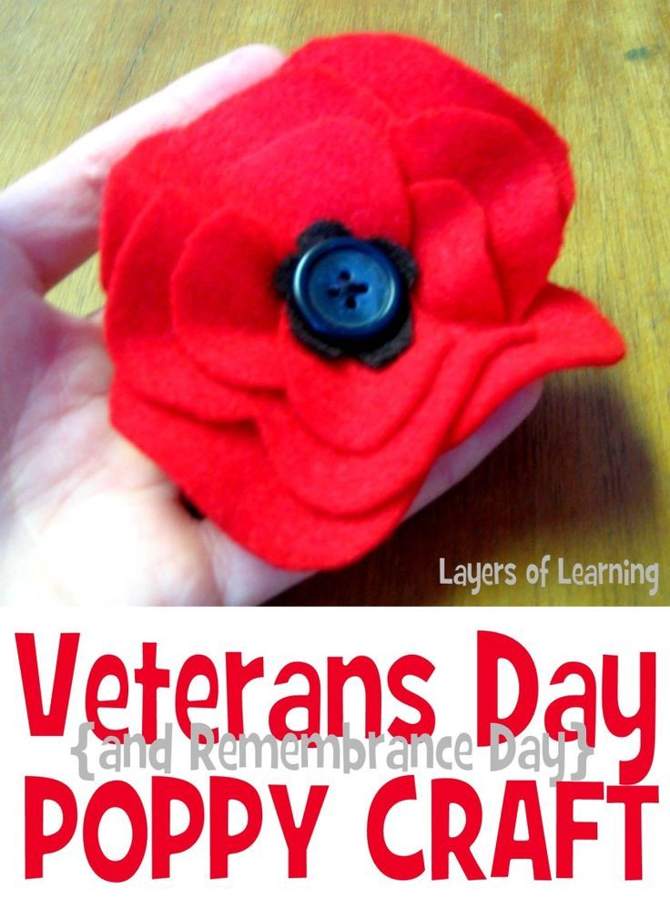 151 best veteran 39 s day thanks images on pinterest crafts for Veterans day poppy craft