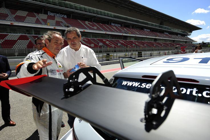 Jacky Ickx, former F1 driver, at the Circuit de Barcelona-Catalunya
