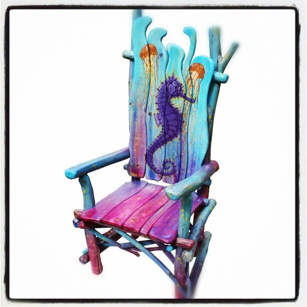 Gorgeous handpAinted chair