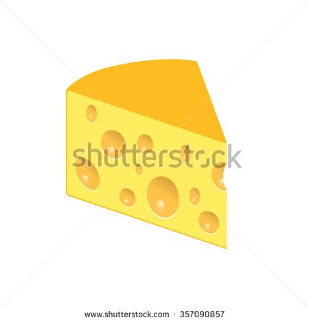 Vector cheese - stock vector