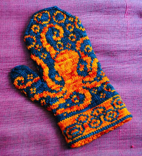 Octopus Mittens by Emily Peters Pattern on ravelry