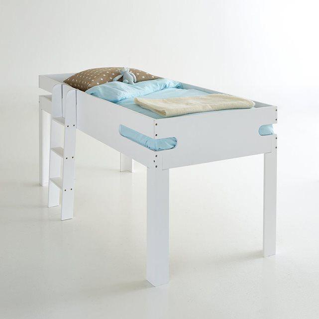 17 meilleures id es propos de lit mi hauteur sur pinterest coin t te de lit le stockage de - Lit et chevet integre ...