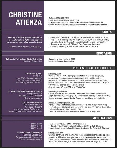 Best 25+ Resume architecture ideas on Pinterest Architectural cv - web architect resume
