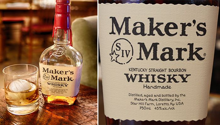 #1 on our Top 10 Most Popular Bourbon Brands is Maker's Mark Whiskey
