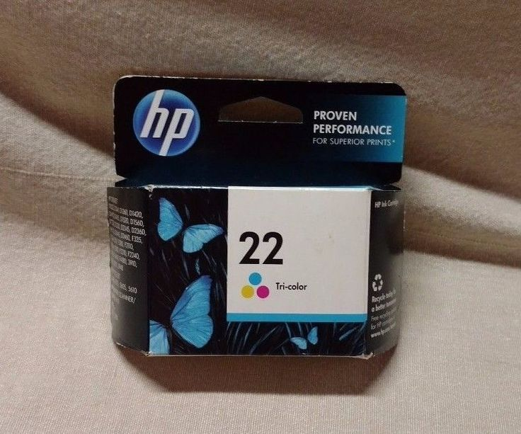 HP Printer Scanner Copier 22 Tri-Color Ink Cartridge Expired Sealed New NIB #HP