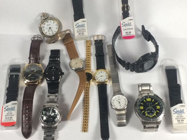 Watch Lot For Parts or Repair Only G-Shock, Timex, Fossil, Citizen, Relic